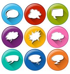 Buttons with empty callout templates vector image vector image
