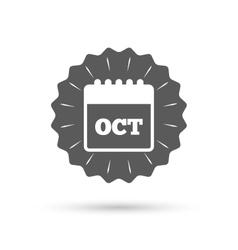 Calendar sign icon October month symbol vector