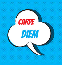 carpe diem motivational and inspirational quote vector image