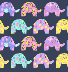 cheerful seamless pattern with colorful cute vector image