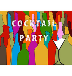 Cocktail Party colorful background vector