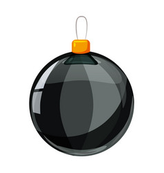 colour christmas black ball isolated on white vector image
