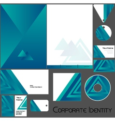 Corporate identity template no 19 BLUE vector