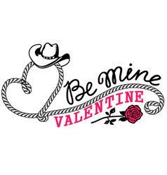 Cowboy valentine day country farm with cowboy vector
