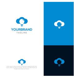 creative cloud logo template vector image
