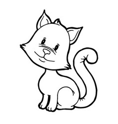 cute kitten tilted his head vector image