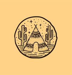 Desert camp vector