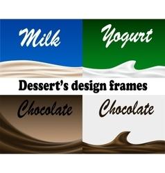 Dessert design frames vector