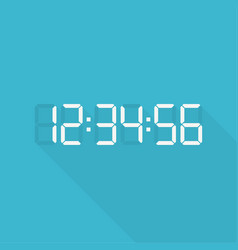 digital clock and numbers vector image
