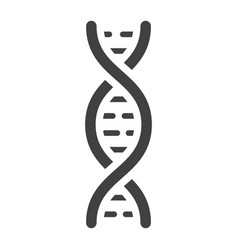 dna glyph icon medicine and healthcare genetic vector image
