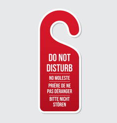 Do not disturb door hotel sign vector