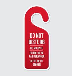 do not disturb door hotel sign vector image