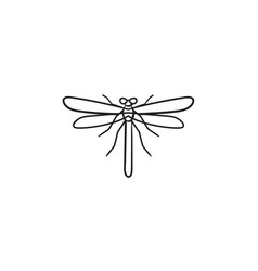 Dragonfly hand drawn sketch icon vector