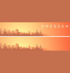 dresden beautiful skyline scenery banner vector image