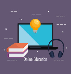electronic education with laptop vector image