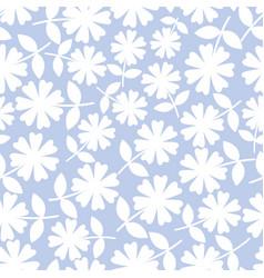 Elegant white flowers in ditsy floral design vector