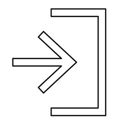 entry input enter door icon black color flat vector image