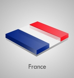 European flags set - France vector image