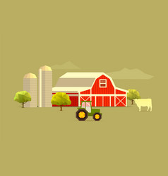 Farm simple vector