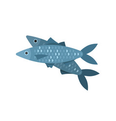 Flat style of fish vector