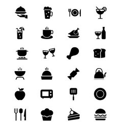 Food Solid Icons 1 vector image