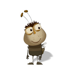 funny bug cartoon vector image