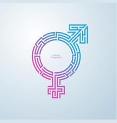 gendermaze vector image