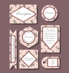 gentle set of business cards vector image