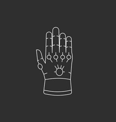 Glove with gems vector