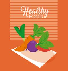 Healhy food vegetables vector