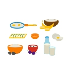 Healthy breakfast vector image