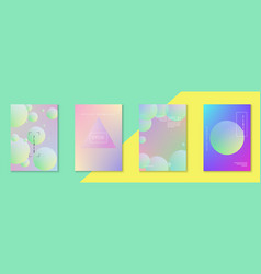 Holographic cover set fluid for business vector