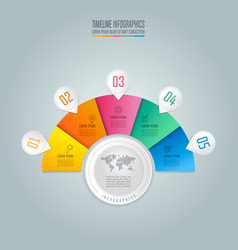 Infographic design business concept with 5 vector