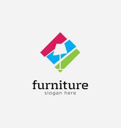 interior logo designsymbol lamp vector image