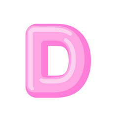 letter d candy font caramel alphabet lollipop vector image