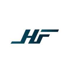 letter hf logo design concept template vector image