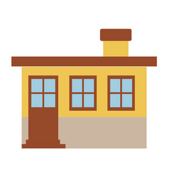 light color silhouette of small house facade with vector image