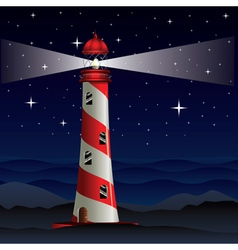 Lighthouse and Night Sea2 vector