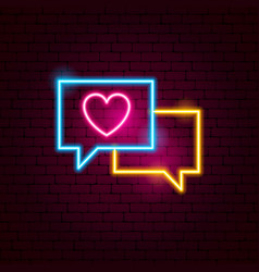 love message neon sign vector image