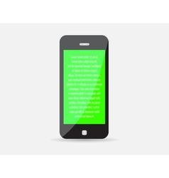 Mobile realistic icon Smart Phone Representing vector