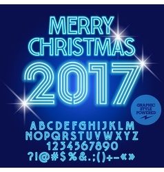 Modern light up Merry Christmas 2017 greeting card vector