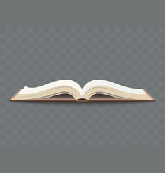 Opened book with blank pages school education vector