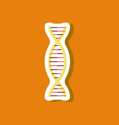 Paper sticker on stylish background dna vector