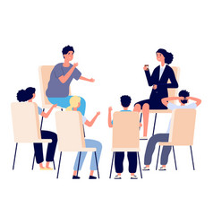 people meeting psychotherapy training business vector image