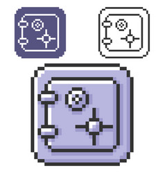 Pixel icon safe in three variants fully vector