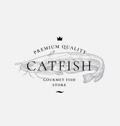 premium quality gourmet fish purveyors abstract vector image