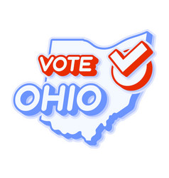 Presidential vote in ohio usa 2020 state map vector