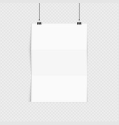 realistic poster mockup a4 vector image