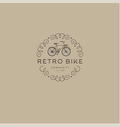 retro bike logo vector image