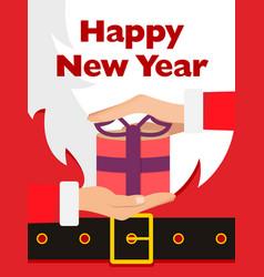 santa claus message banner red santa claus suit vector image